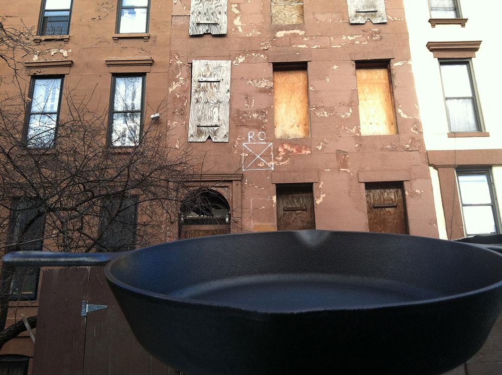 Drive the pan downtown.